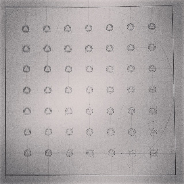 #gradients #contrasts and morphing in the #studio today. #art #drawing #science #geometry #order #array