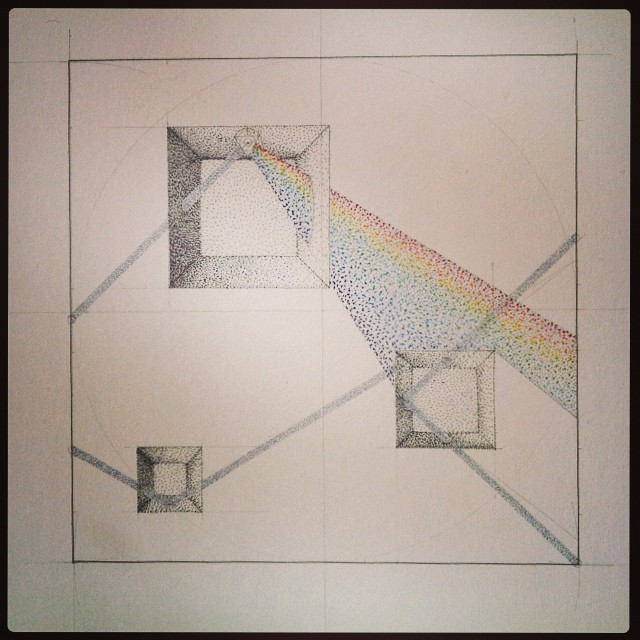 #prisms #mirrors and #lasers on this week's shopping list! #drawing #art #science #optics #physics #light