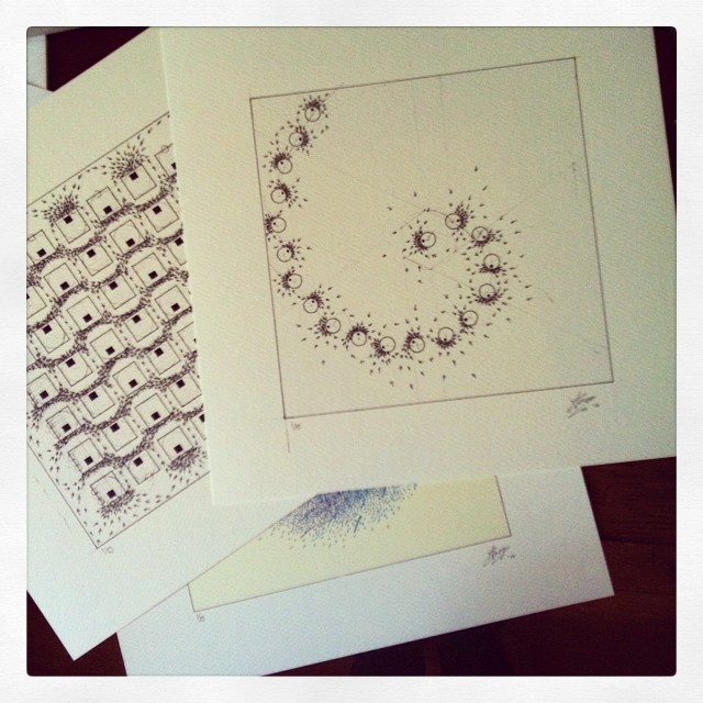 Never knew signing #prints could be so much fun! Thanks #lavadodgers . #art #drawing #science #sketch #goldenratio #geometry