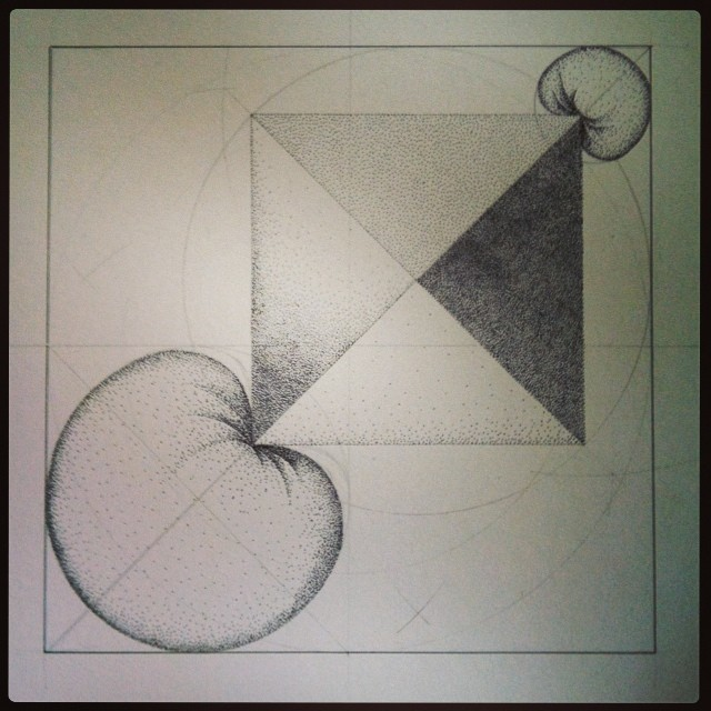 Another #drawing about to be uploaded. Here's how they come about:  https://m.youtube.com/watch?v=cwYLMcj5SXA#  #art #science #sketch #geometry #sculpture #residency #iceland #sphere #octahedron
