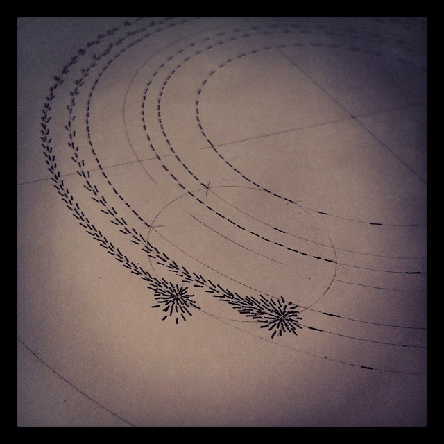#magnetic trail blazing…. #drawing #art #sculpture #science