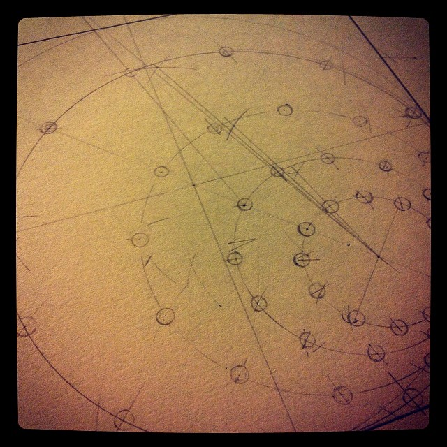Ever decreasing #circles. #drawing #magnetism