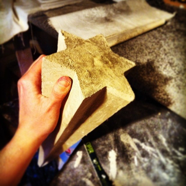 The closest my #studio comes to sparkling is a #ceramic star! #sculpture #commission