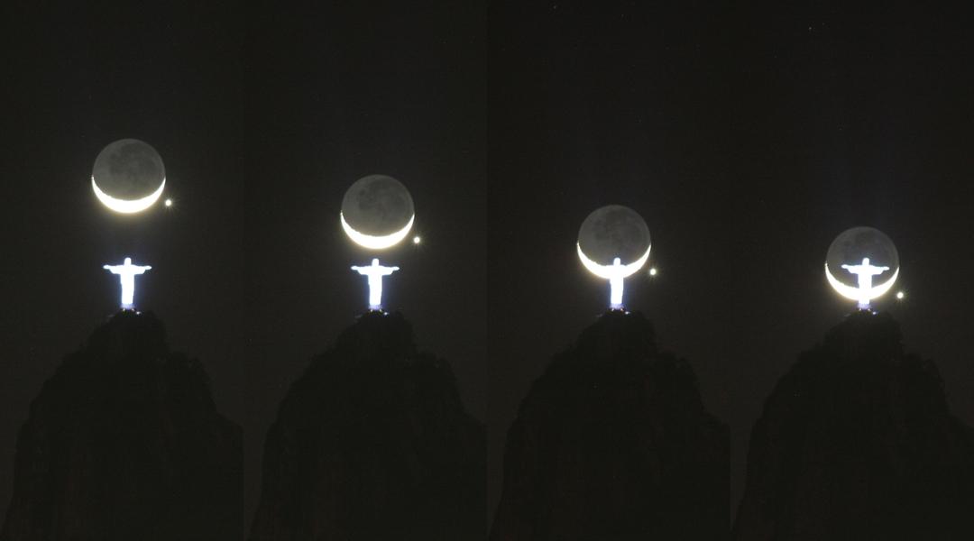 kenobi-wan-obi :       Moon and Venus conjunction in Rio  by  Josselin Desmars