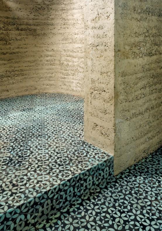 rammed earth & clay tiles by Martin Rauch, Vorarlberg, Austria