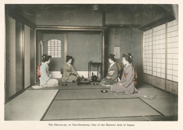 "tsmskimonoyokubo :      ""The Cha-no-yu, or Tea-Ceremony, One of the Esoteric Arts of Japan."" ca. 1910s - TSM"