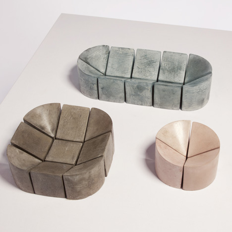 Waxed concrete bowls by Philippe Malouin for Dezeen