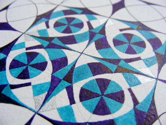 This has been around for a little while but having started a course on Persian art and Penrose tilings you may want to brace yourself for geometric drawing overload!!!!!