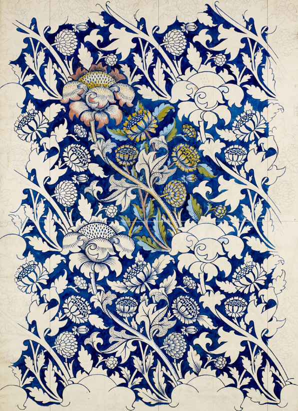 "un: krgkrg: ""I've got a soft spot for William Morris and love seeing the process in this drawing."""