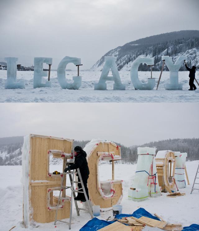szymon: Ice Typography by Nicole Dextras