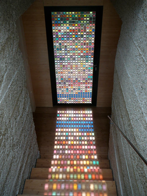 michellechilds :      jaymug : Architect Armin Blasbichler's home in South Tyrol in Northern Italy   I want a door like this!