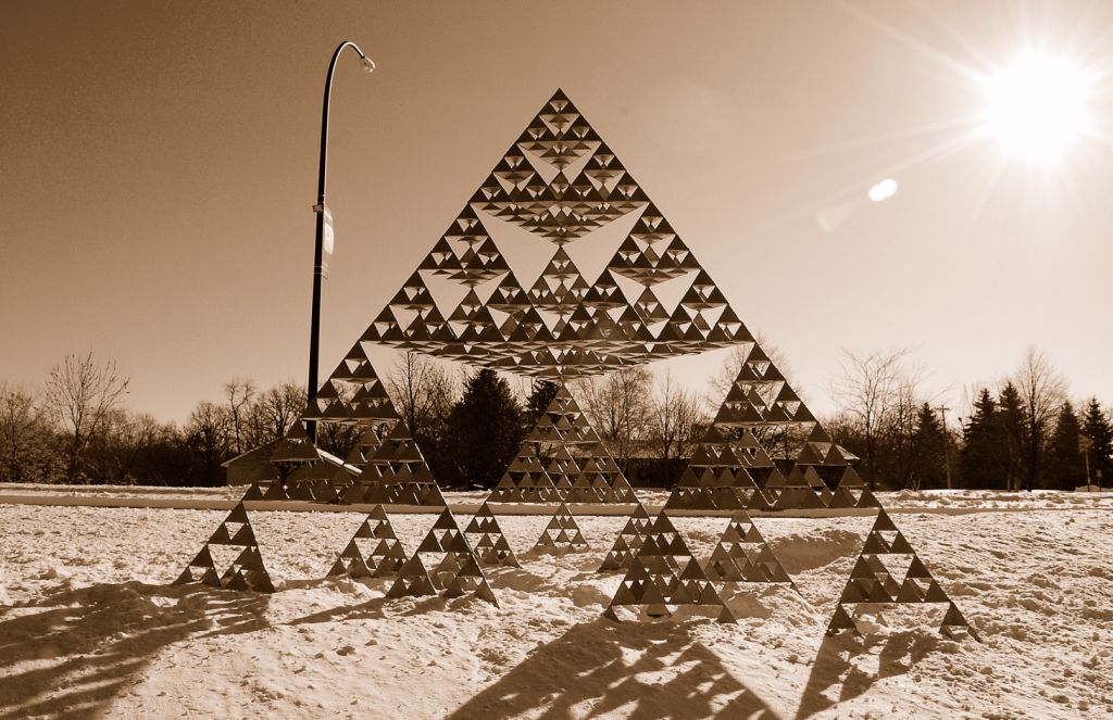 freshphotons :     The Sierpinski Tetrahedron: A Metal Sculpture.