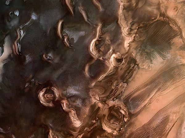 alittlebreadandnocheese :     Springtime at Mars's icy south pole