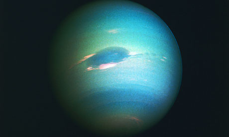 jtotheizzoe: One year ago, we discovered Neptune. One Neptunian year, that is. See, it takes Neptune 164.79 years to go around the Sun, and it's been that long since it was discovered - on September 23, 1846. (via The Observer)