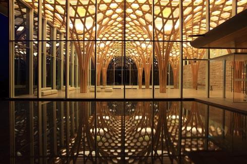 architectureandarts :     Haesley Nine Bridges Golf Club House designed by Shigeru Ban Architects.