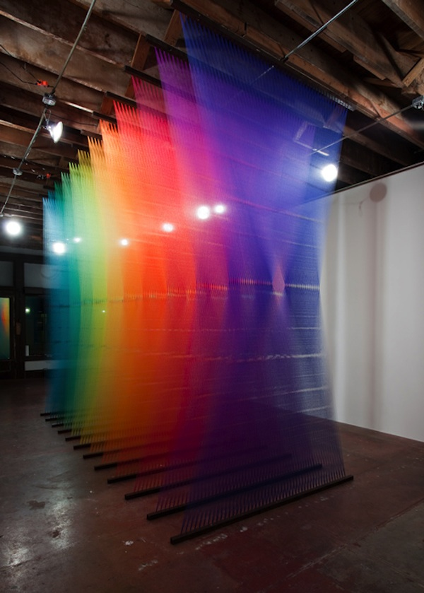 subcreation :     by Gabriel Dawe    Click through  for more amazing photos of the exhibit and an interview with the artist.   (via  bugeyedmoments )