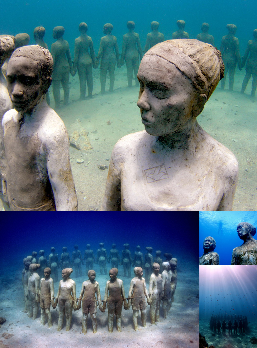 subcreation :     Underwater sculpture by Jason DeCaires   (by  joelferguson )