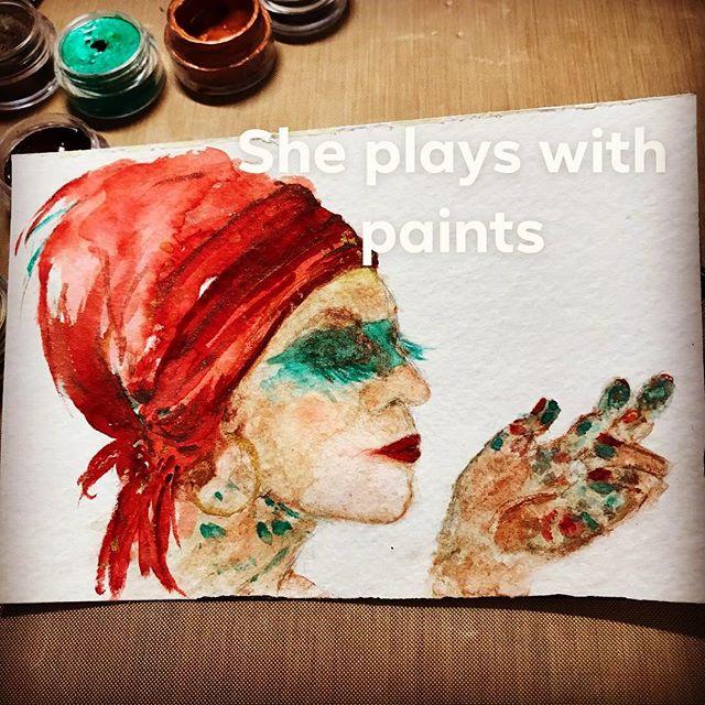 #playingwithpaints #sheplayswithpaint #creativemessiness #creativityismessy #paintgoddess #drawinginwardarts