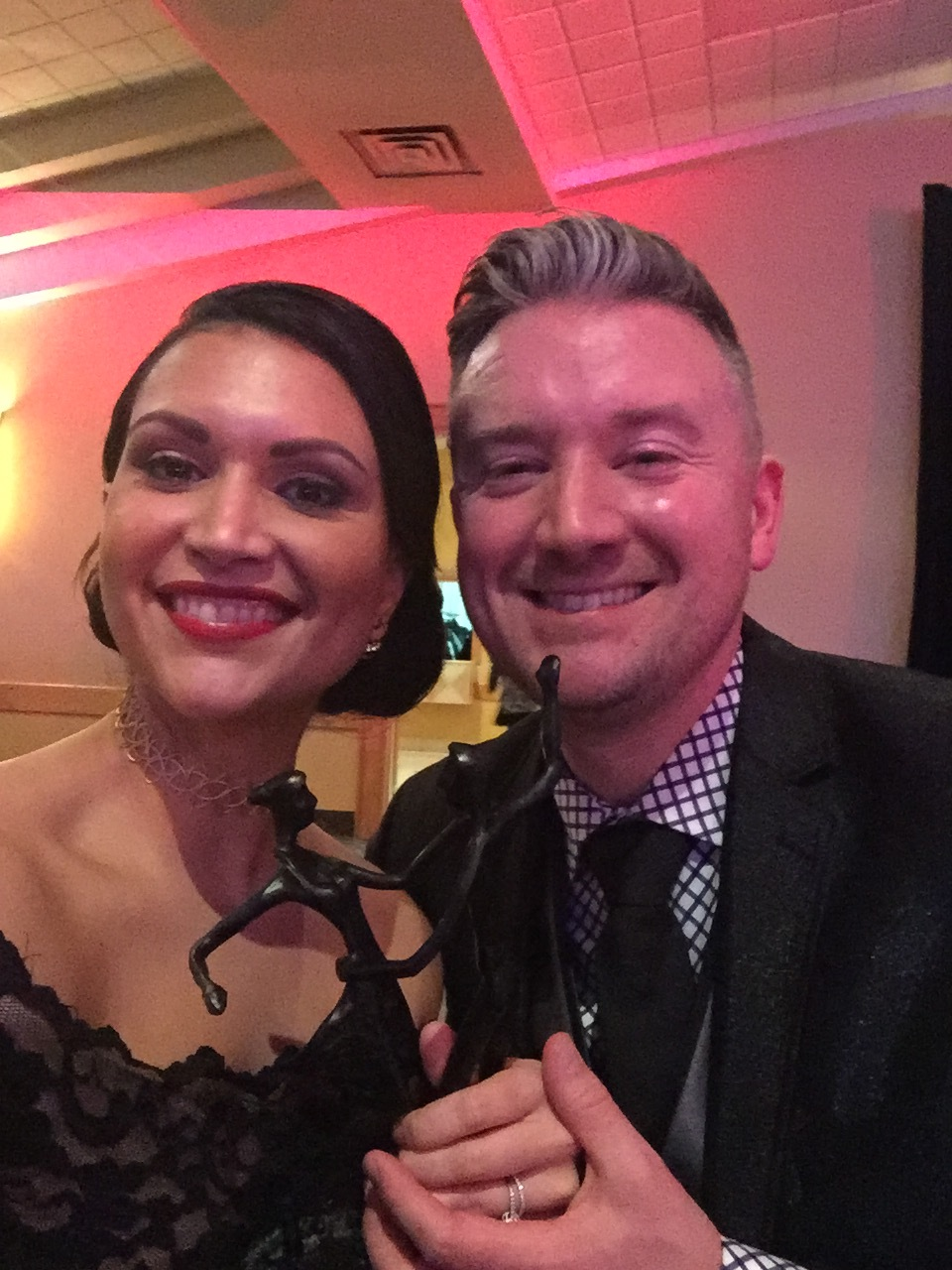 Carolina with her husband, Kyle Priestley, who is the lead for Corporate Event Management and DJing at The Event Firm.