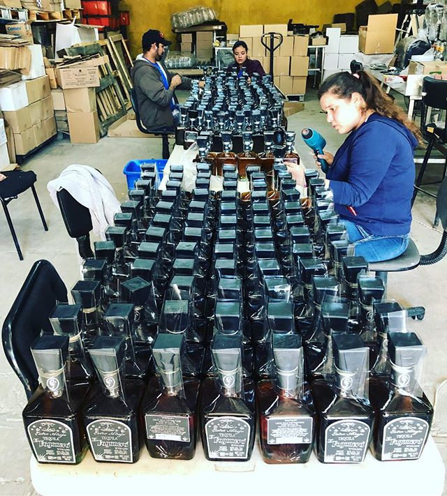 A fresh batch of our award winning 4 year aged extra-anejo tequila. Limited production, a family owned distillery, and traditional production techniques passed down through generations are all important factors that make our tequila so unique #extraanejo #premiumtequila #sipdontshoot