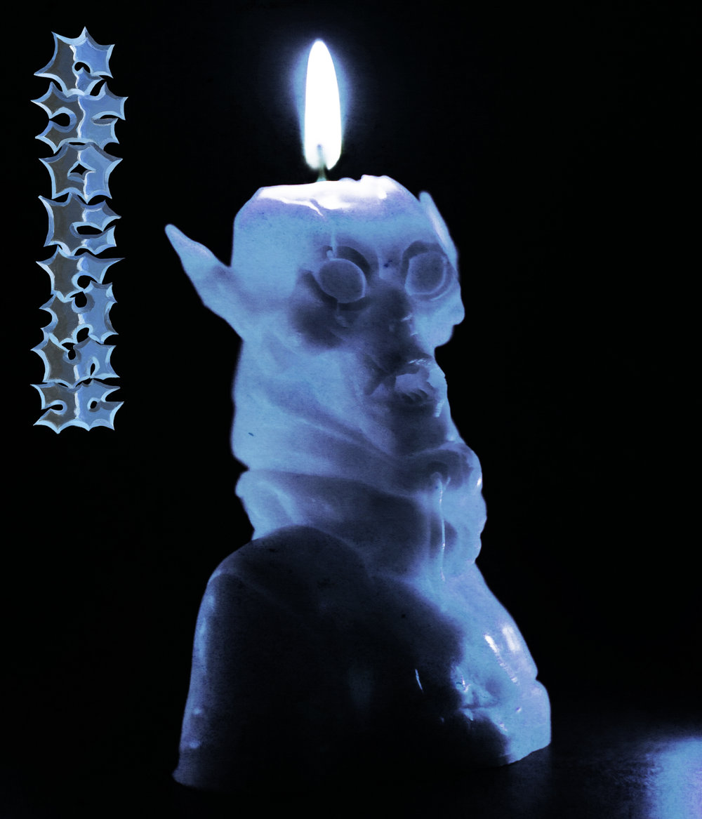 GHOULISH WAX CANDLE made from silicone mold.