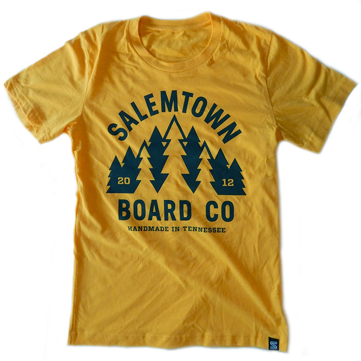 Yellow Forrest t-shirt, Salemtown Board Co.