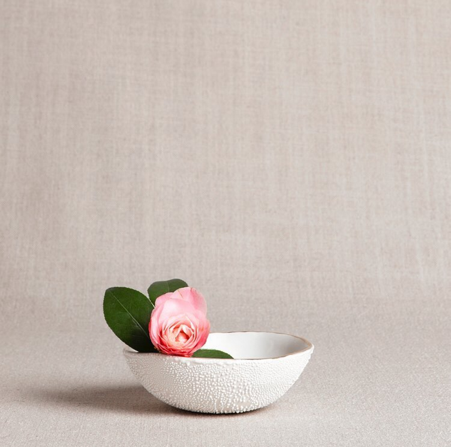 A stunning photo of a ceramic bowl by  Honeycomb Studio , taken at the level of the product.