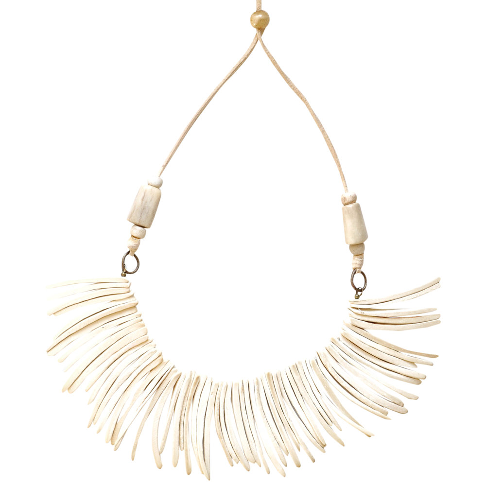 White Coconut Bib Necklace.JPG