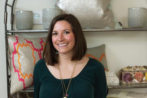Whitney Caudle, half of the mother-daughter design team behind Piper Pillows.