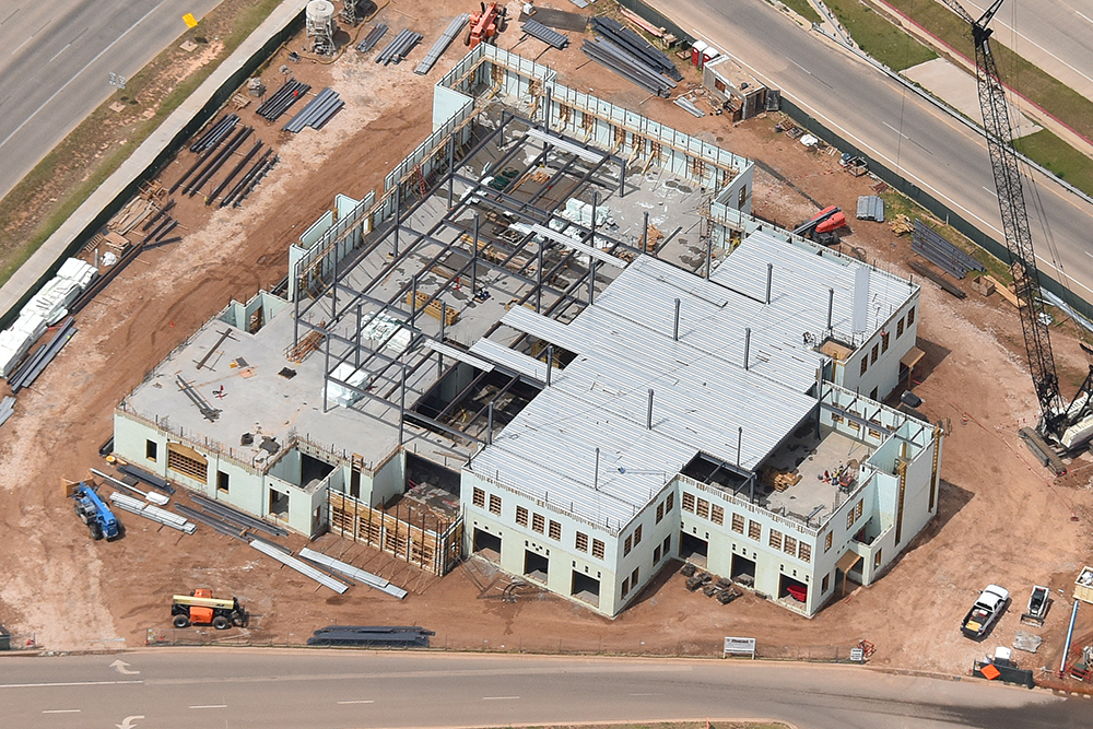 Texas Tech Admin Building Aerial