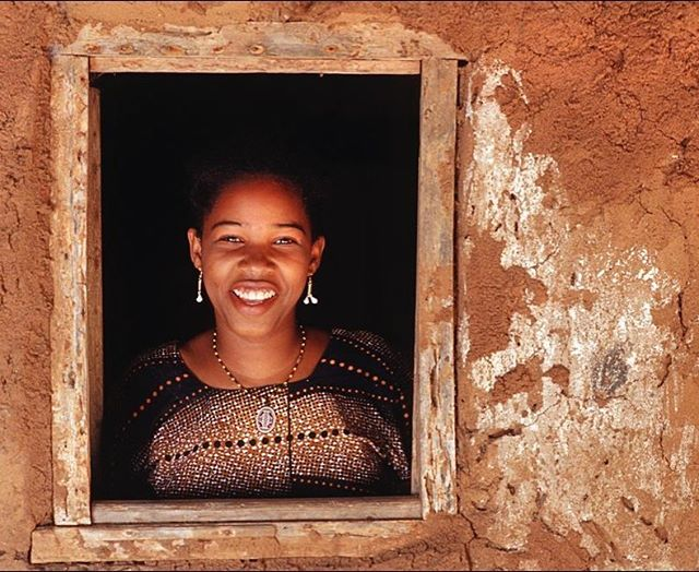 Portrait of a Tanzanian woman, Chole island, Mafia archipelago, Tanzania  Nikon FM2n Nikkor 85mm f2 Fuji Velvia