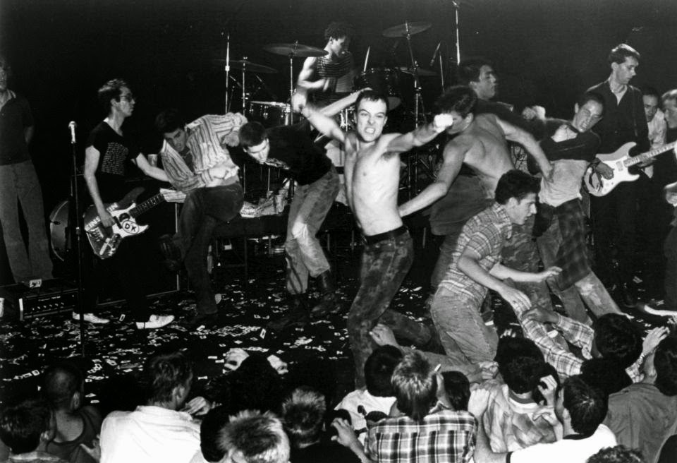 A punk show in 1983: now THAT'S theatrical chaos.
