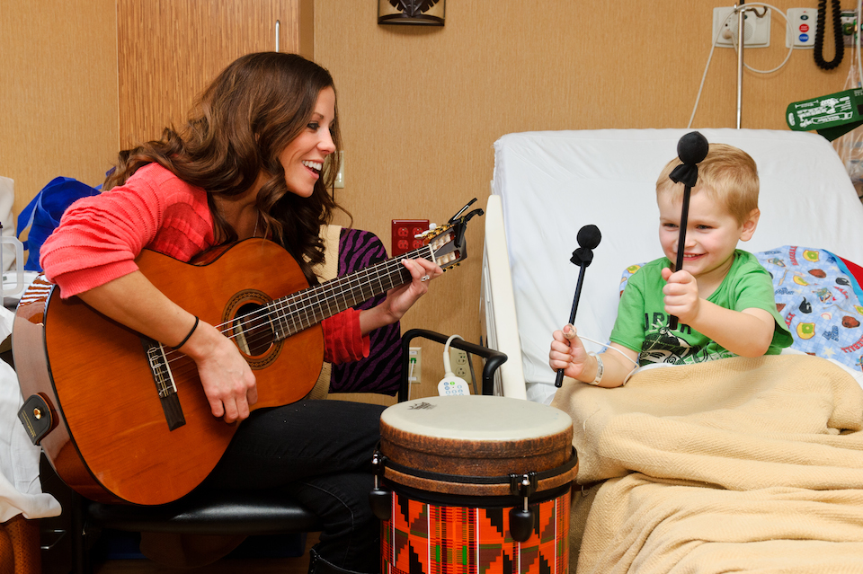 Music therapy in action - photo via  Pascale's Pals