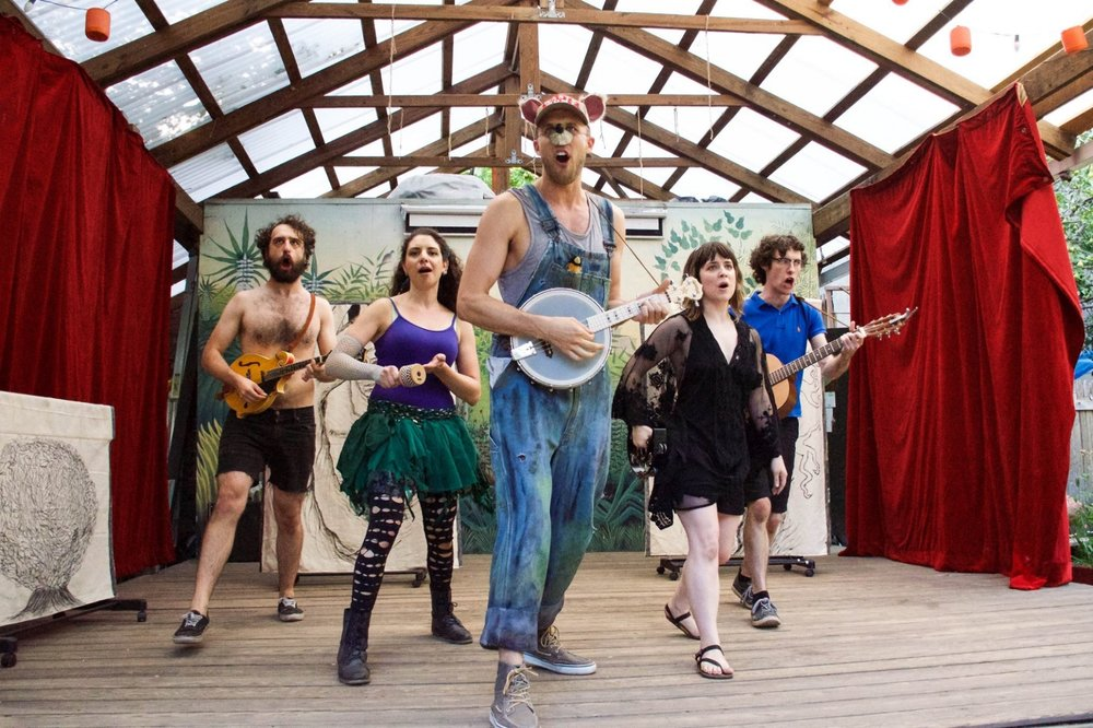 The cast performs a song from 'What's Your Wish?' at FringeNYC - The New York International Fringe Festival. Photo by Ellen Bryan of Lenny's Lens Photography.