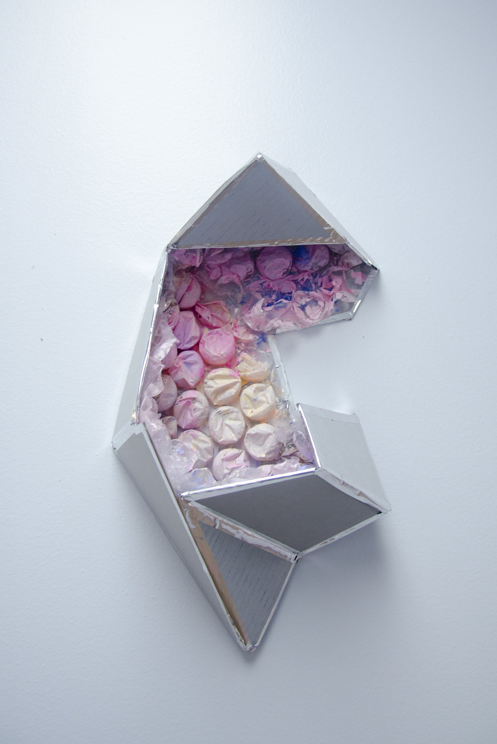An Opening   Acrylic, cardboard, metallic tape and bubblewrap  2016