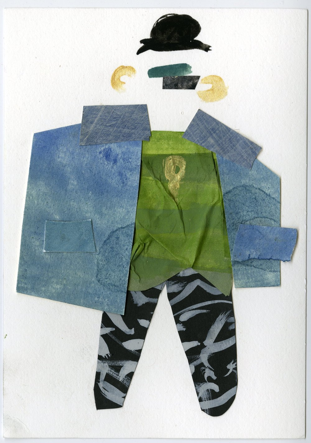 Crust Punk Sweater Baby   Gouache and Collage  2016