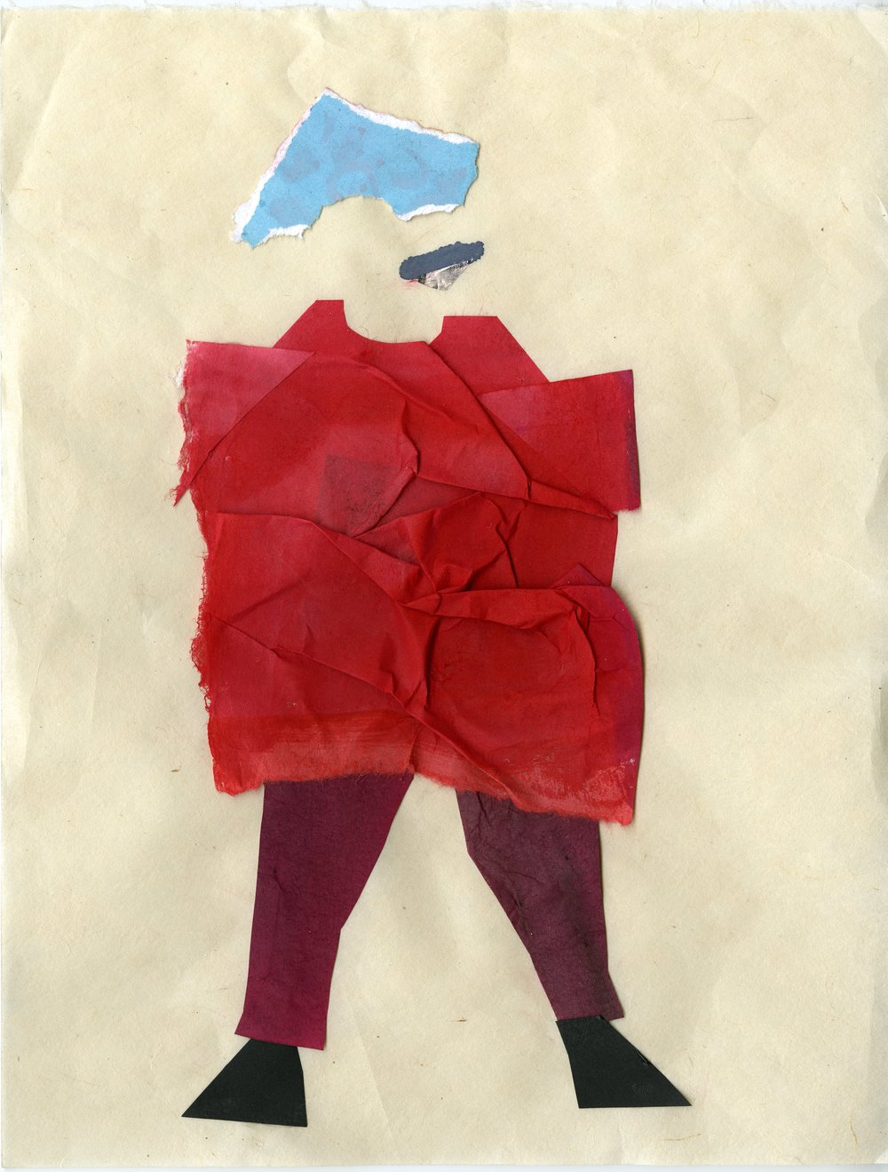 Lazy Sunday Sweater Boy   Gouache and Collage  2016