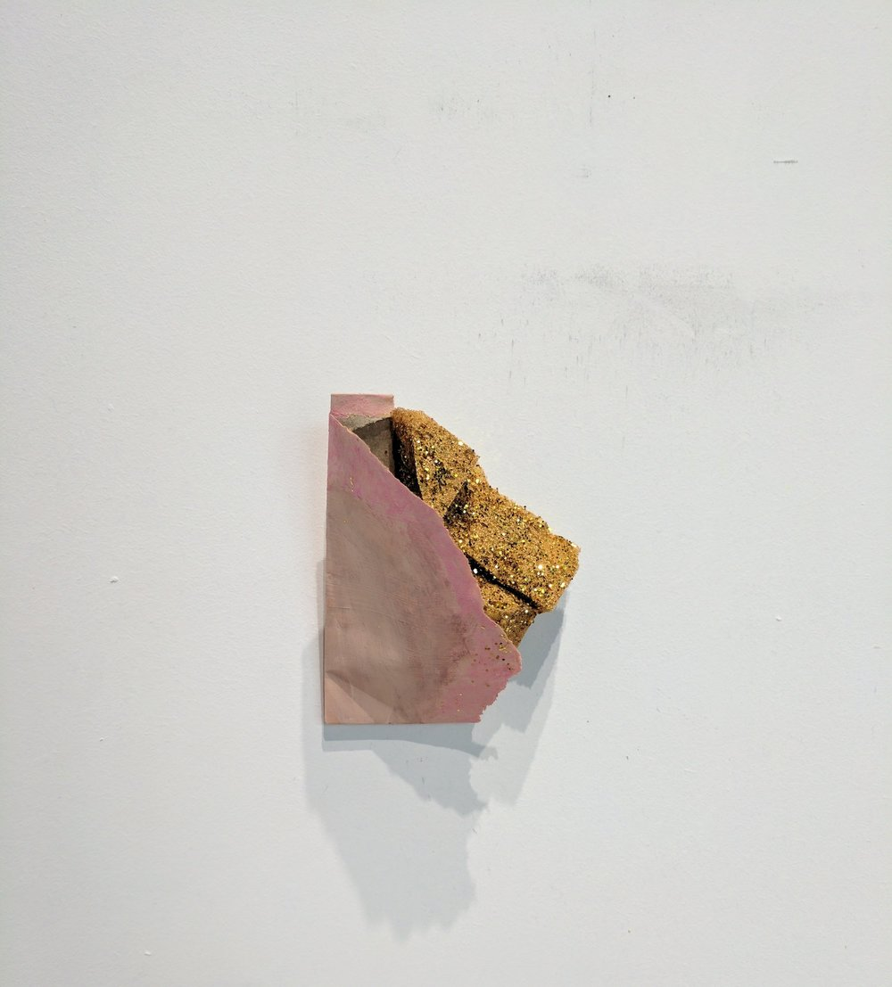 Scab    Envelope, sponge, acrylic, and glitter  2017