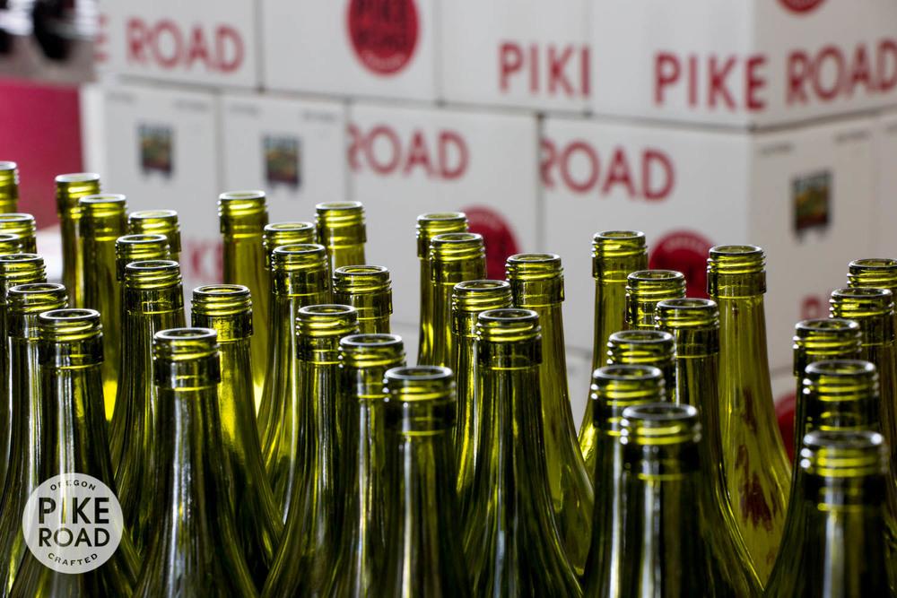 Glass headed for the bottling line