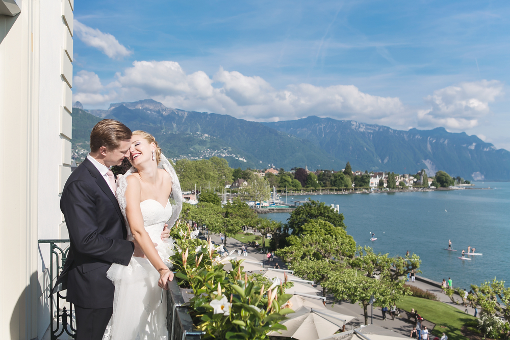 Couple portrait in Switzerland