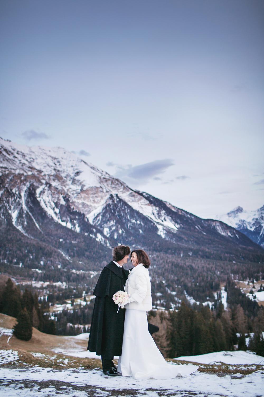 Switzerland winter wedding