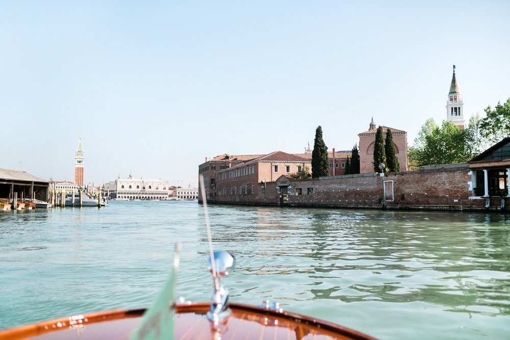 Venice canal luxury boat wedding