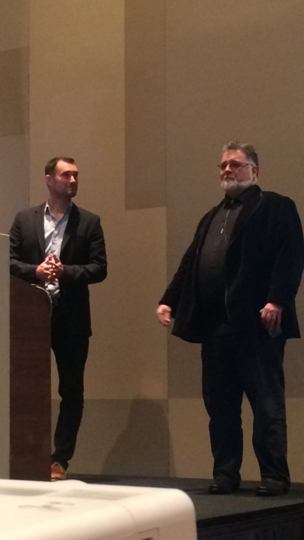 Patrick Hosch (L), Lead Technical Evangelist at Nintex and Mike Fitzmaurice (R), VP of Workflow Technology at Nintex.