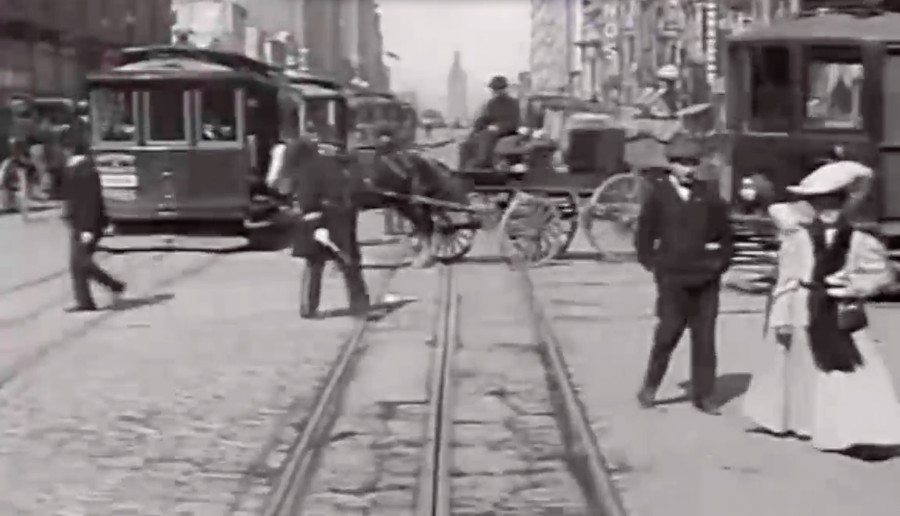 Image Credit: Video Still From -  A Trip Down Market Street 1906 San Francisco - YouTube