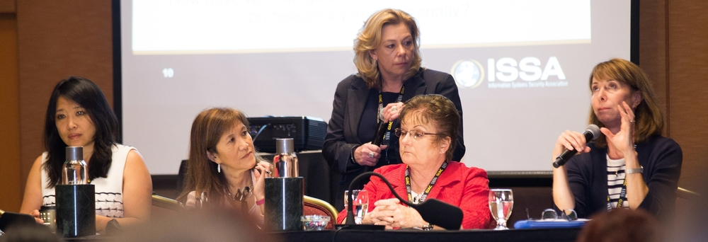 Women in Security Panel (left-to-right): Wang, Hoy, Fusco, Santor, Douglas