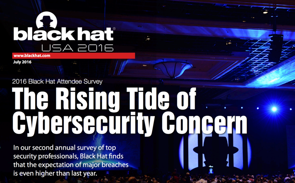 Source:  Black Hat USA 2016 Survey