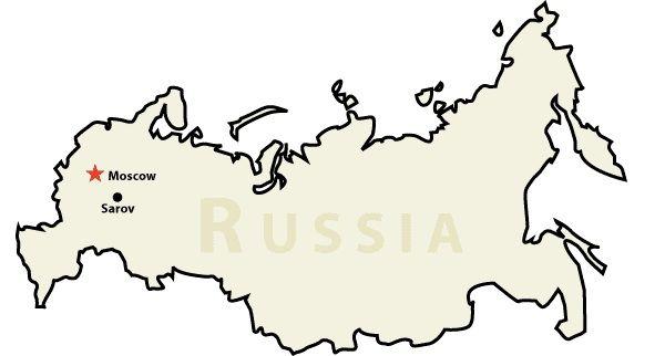Location of Sarov   Image Source: Red Kalinka