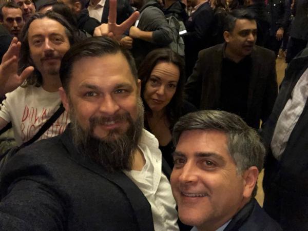 (Left to Right) Marco Ciappelli, Scott Scheferman, Selena Templeton (background), Sean Martin