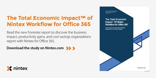 New Study Finds That Money Has Large >> Total Economic Impact Study Finds Big Business Benefits With Nintex