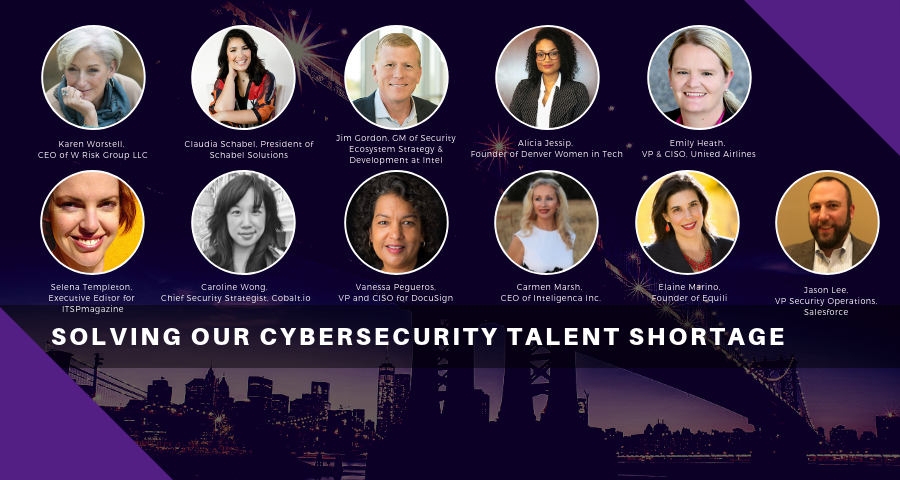 Solving Our Cybersecurity Talent Shortage, RSAC 2019, speakers